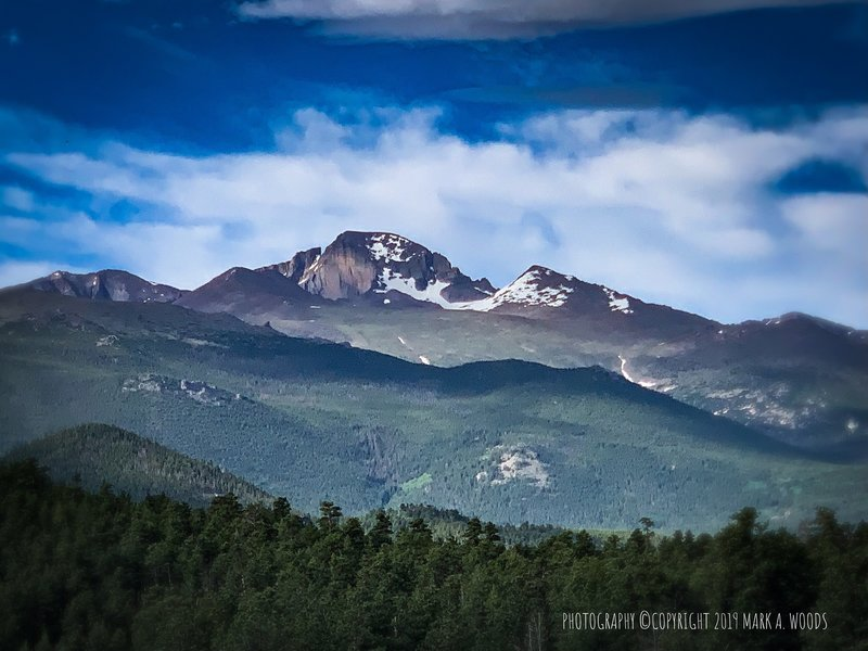 Longs Peak, view from Beaver Meadows Trail, Rocky Mountain National Park.