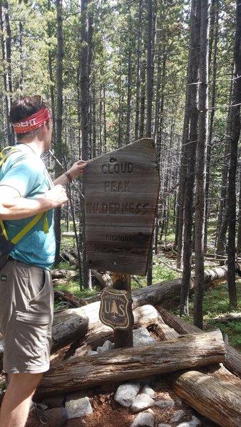 Cloud peak Wilderness Sign