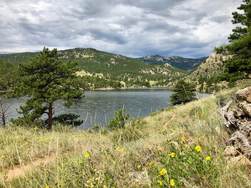 The west end of Ralph Price Reservoir from the North Shore Trail.