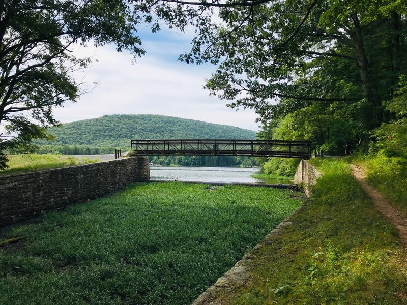 Bridge over Aughwick Creek as it exits Cowans Gap Lake