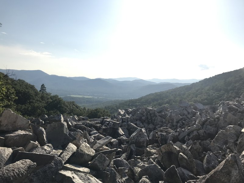 Valley view from Devil's Marbleyard