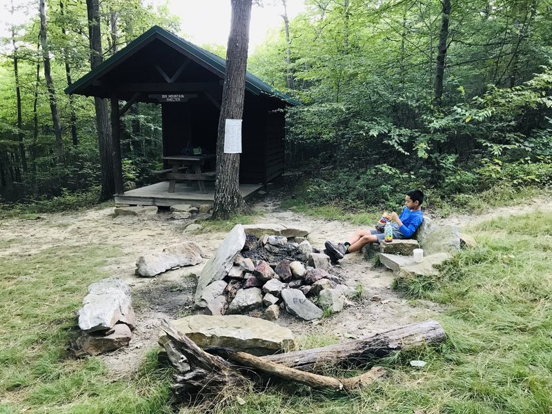 Big Mountain Shelter on the Tuscarora Trail (stone reclining chairs)