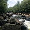 View at the end of the hike, area of rapids called National Falls.