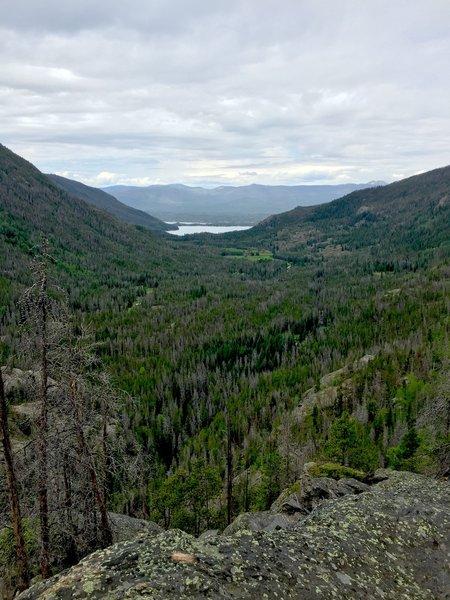 Westward view towards Grand Lake.