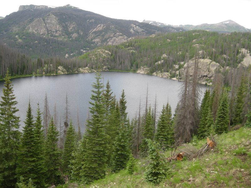 View of Granite Lake from above on Weminuche Trail