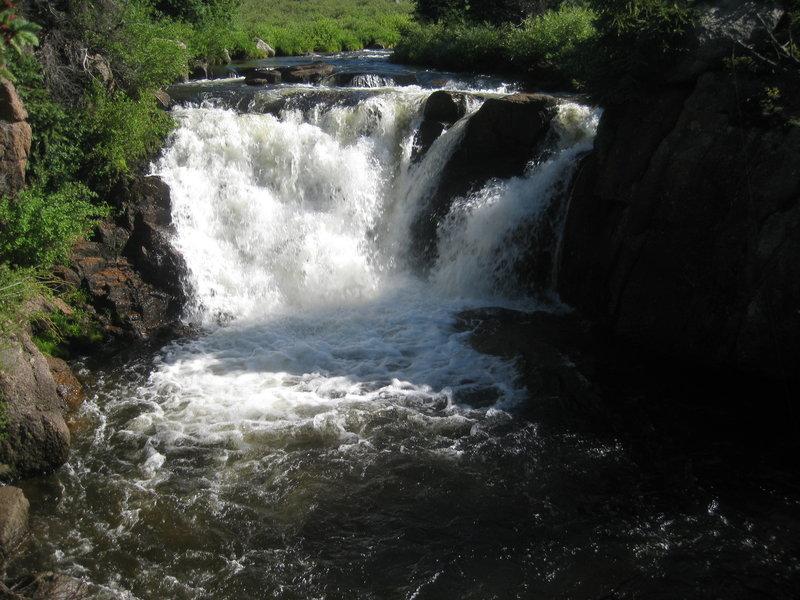 Waterfall on Pine River near Snowslide Trail
