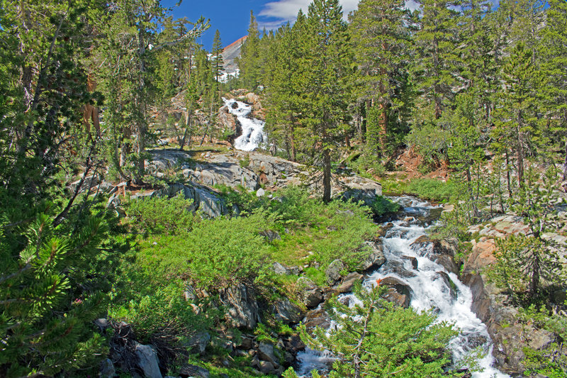 Cascades on Rush Creek near path to Marie Lake