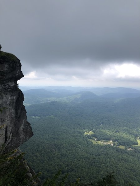 View of the rock on a cloudy day.