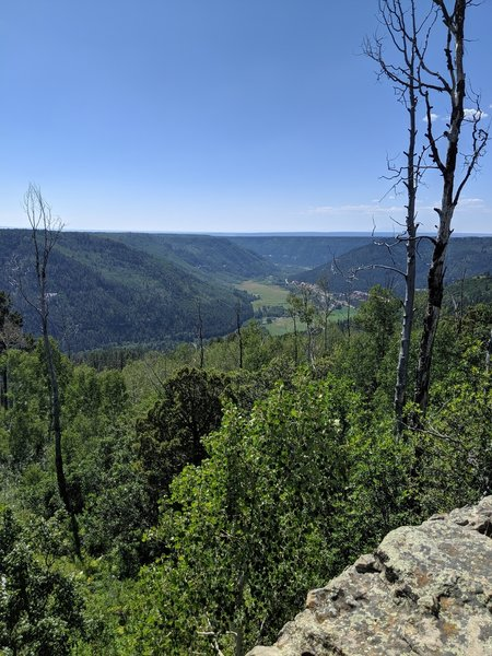 View from the edge of the valley