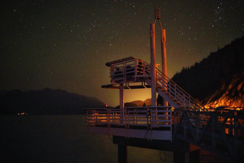 Porteau Cove Look-out at night.
