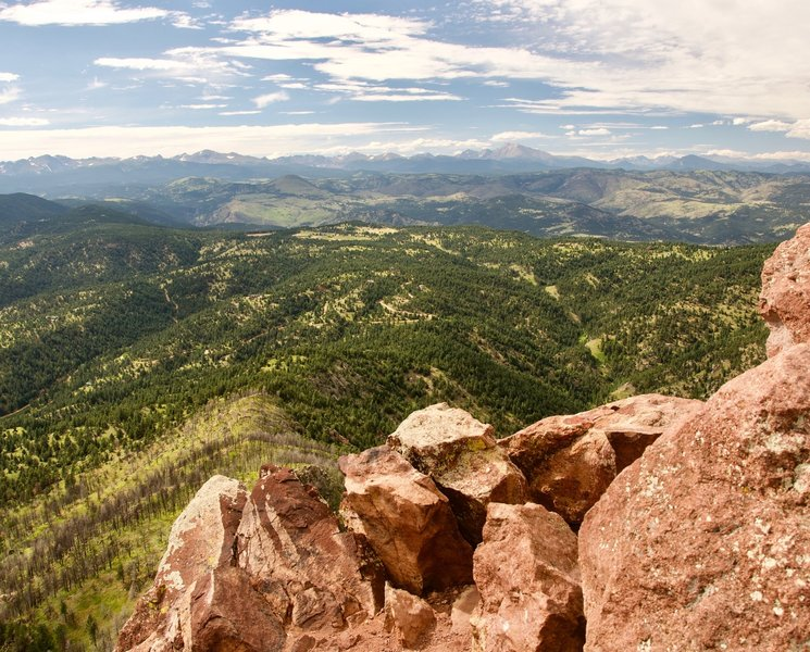 The Continental Divide from Bear Peak in Boulder, CO