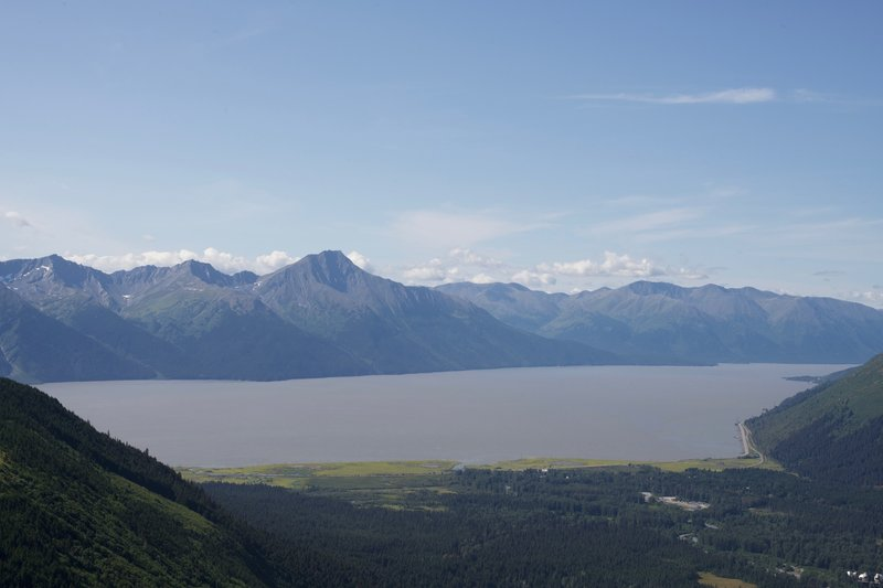 Views of the Turnagain Arm get better and better as the trail climbs higher and higher.