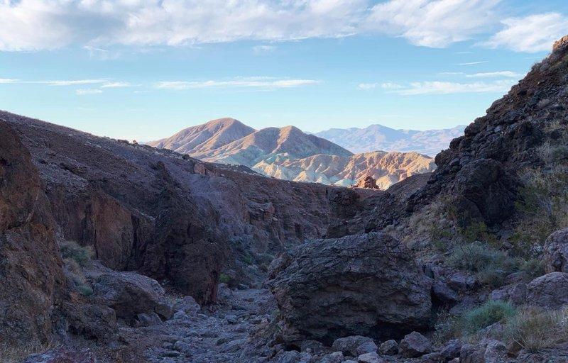 Looking back down Doran Canyon