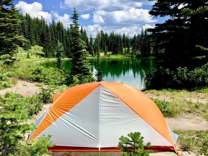 Backpack camp at Sheep Lake.