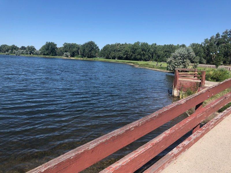 Bridge over Lake Josephine.