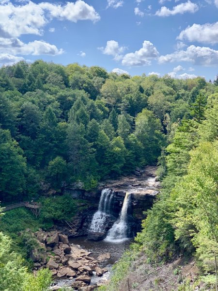 View of the Blackwater Falls from the observation deck.