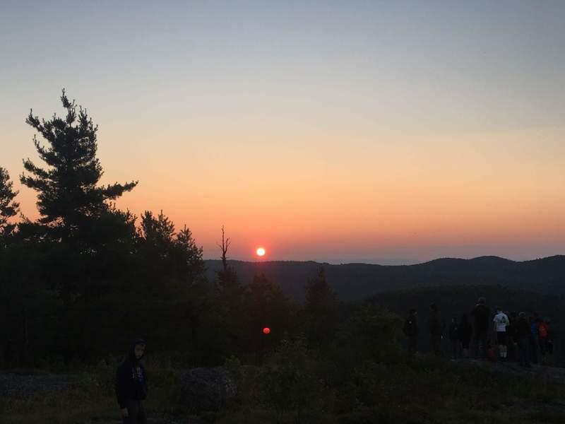 Sunrise from summit.
