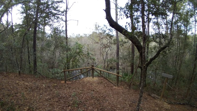 Scenic Overlook of North Fork of Black Creek - Pioneer Trail, Jennings State Forest