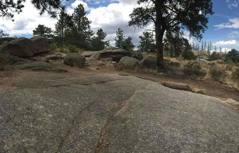 Granite rock features on Stone Temple Circuit.
