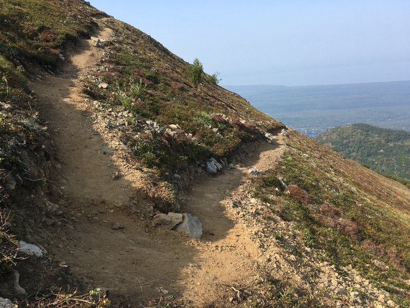 One of several switchbacks on the upper portion of Mount Baldy's newly constructed trail.
