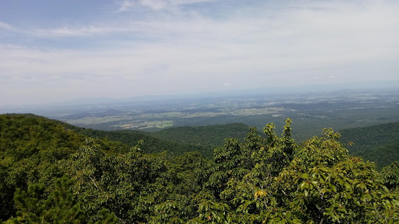 View of Shenandoah Valley from Calvary Rocks.