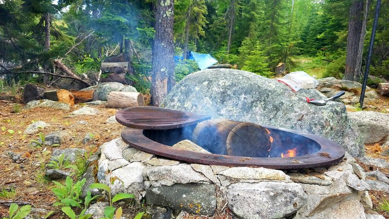There is an actual fire pit.