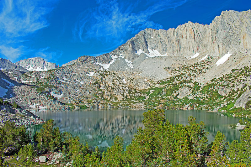 Ruby Lake with peak 13,188 on the right and Mt. Mills in the background.