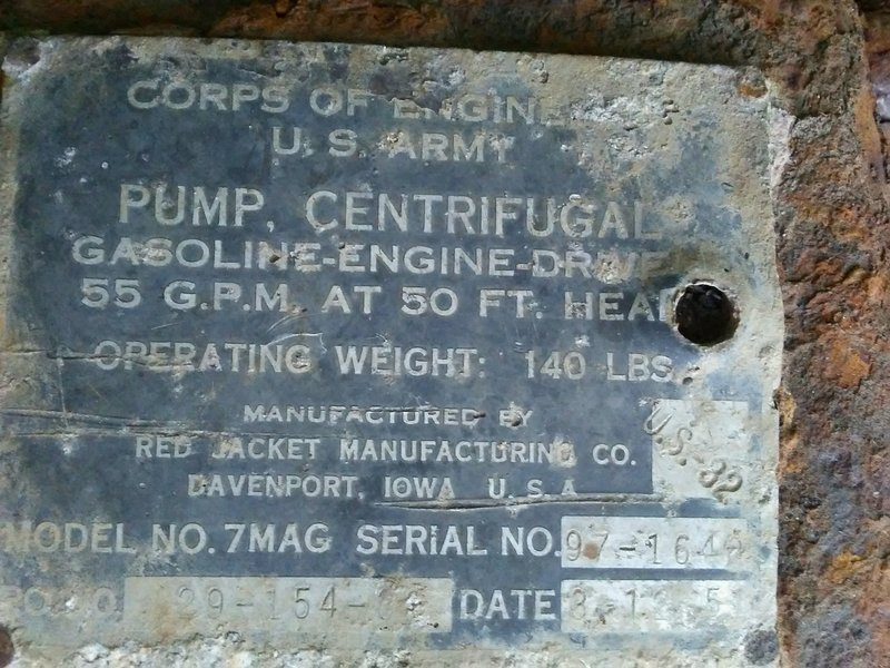 Of historical interest is this pump that can be found on the Christmas tree farm along the hike. Note the date of 3-12-51, if I'm not mistaken.