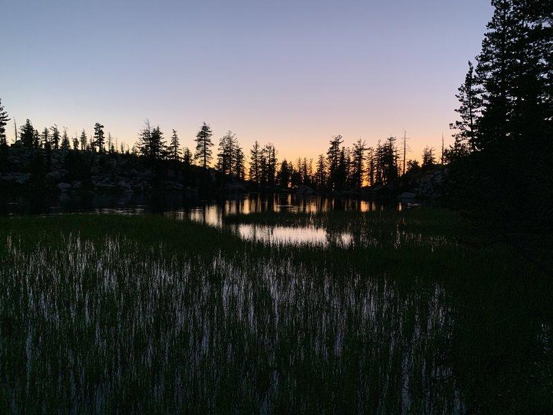 Sunset at Grouse Lake.