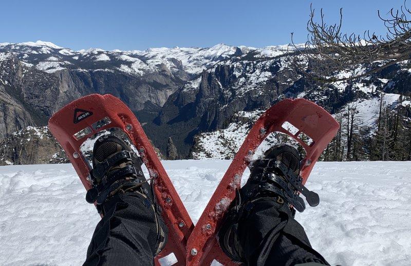 Kicking back at Dewey Point, Yosemite.