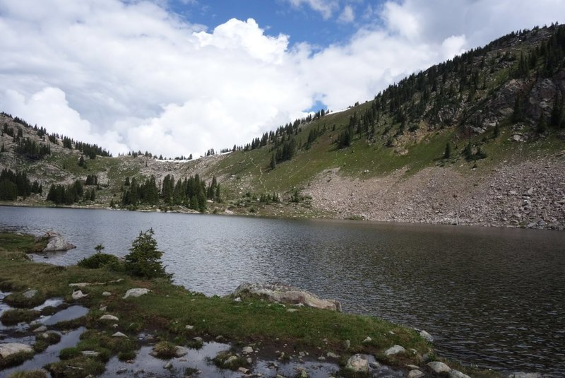 Lyle Lake and the pass towards Mormon.