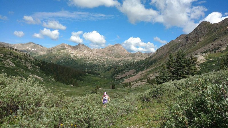 Running up from the lower Lost Man Trailhead to Lost Man Lake.