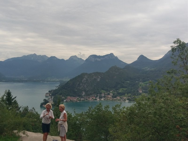 View of Lake Annecy and the Duingt peninsula