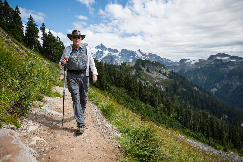 Mt. Shukshan makes quite a backdrop to the trail.