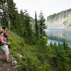 Iceberg Lake, like all the lakes along the trail, is worth stopping to admire.