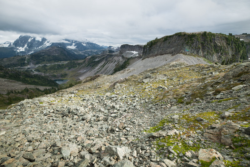 View from trail's high-point on a cloudy day.