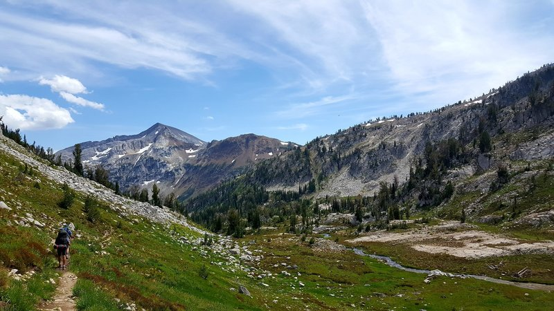 Descending from Glacier Lake to Frazier Lake following the West Fork of the Wallowa River.