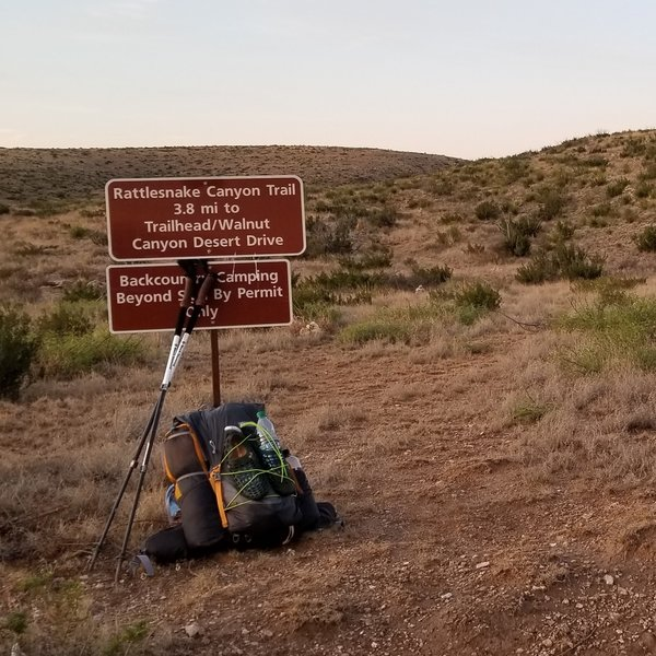 Junction of Rattlesnake Canyon Trail and GRT.