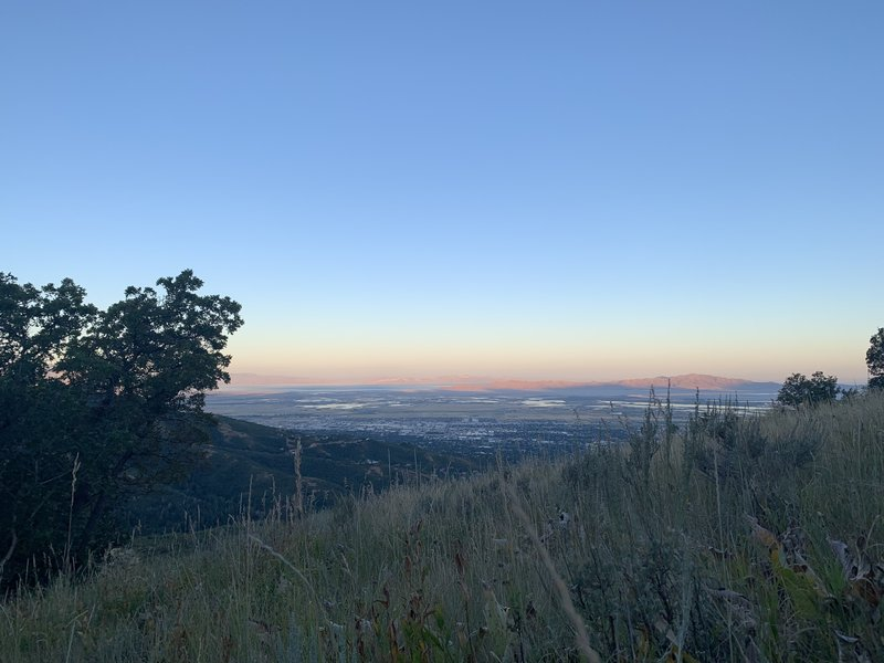 View looking down on South Davis County.