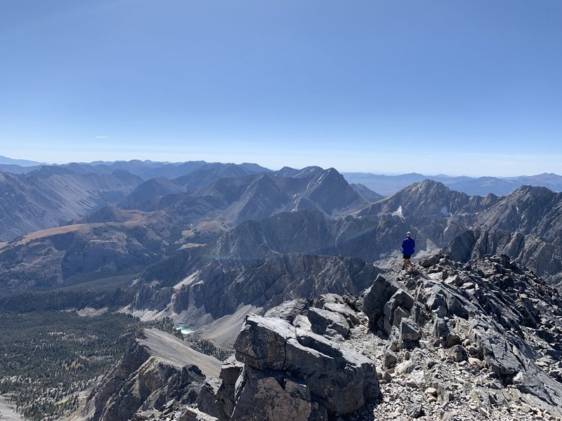 Looking to the southeast off of the summit.