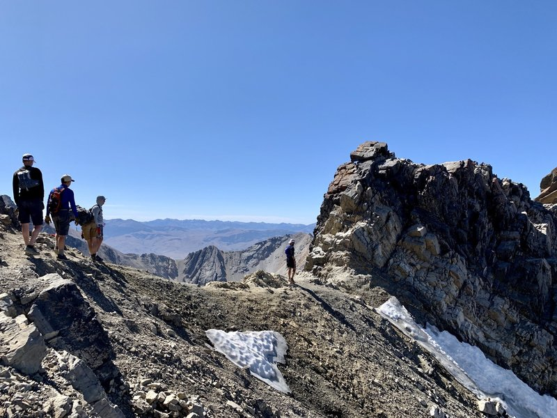 The final drop off of Chicken-Out Ridge.