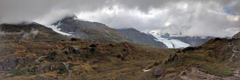 Portage pass and glacier.