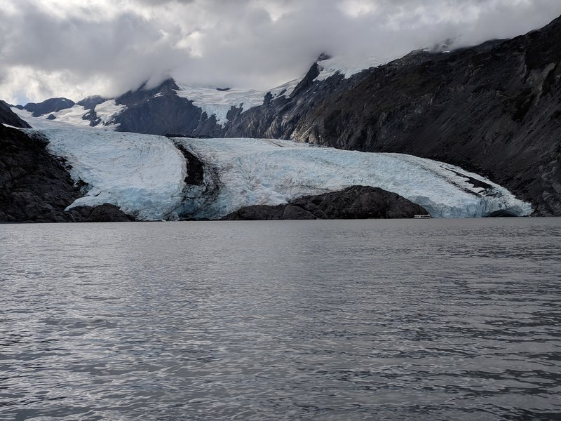 Portage lake and glacier.