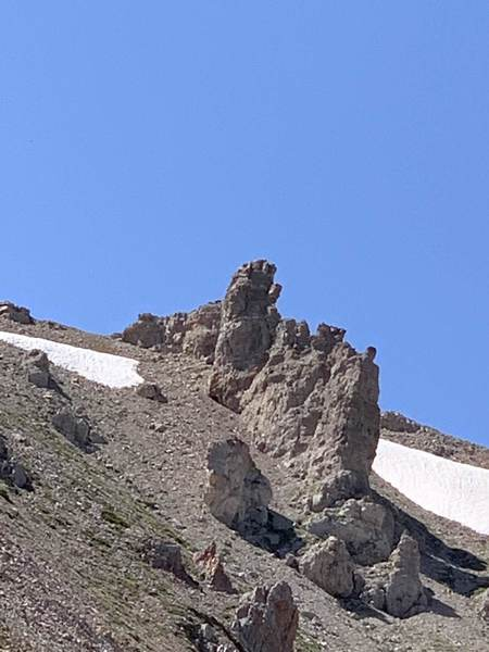 Off trail coming back up from Lake Marie to hit Mt. Jefferson is the final resting place of the Infinity Gauntlet. :)