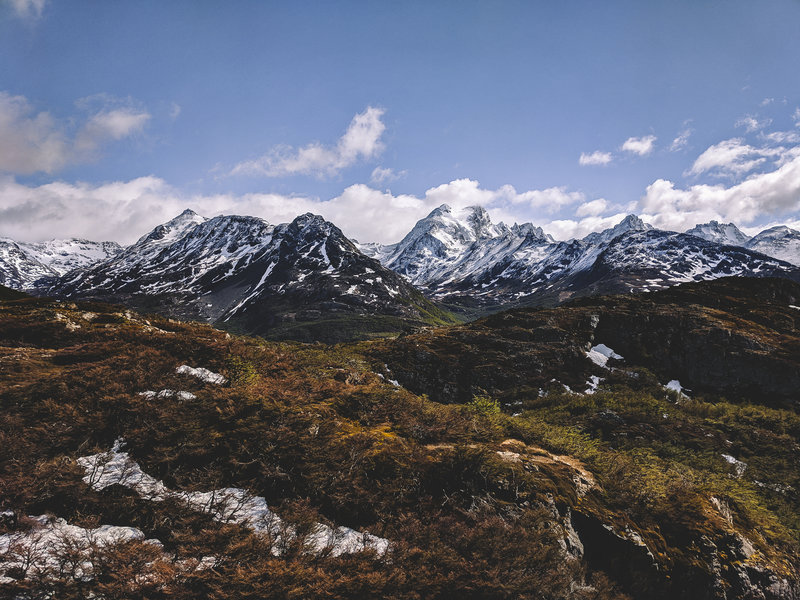 Mountain View from Trail Near Laguna del Caminante