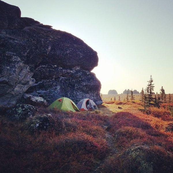Overnight hike on Granite Tors Trail.
