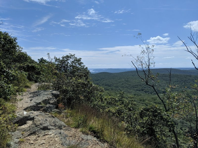 Views south to the Hudson (in the distance) from the AT at Black Mountain.