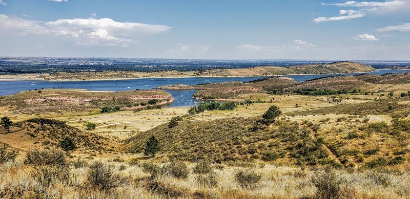 View of Horsetooth Reservoir from the Timber Trail.