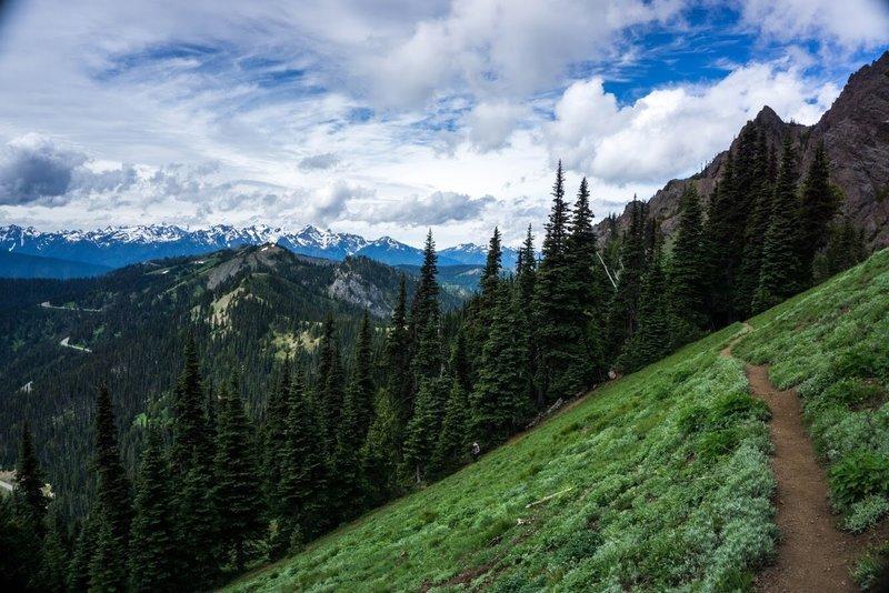 Descending from Klahhane Ridge via the Switchback Trail.