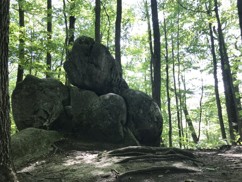 Balance Rock in Kennedy Park.